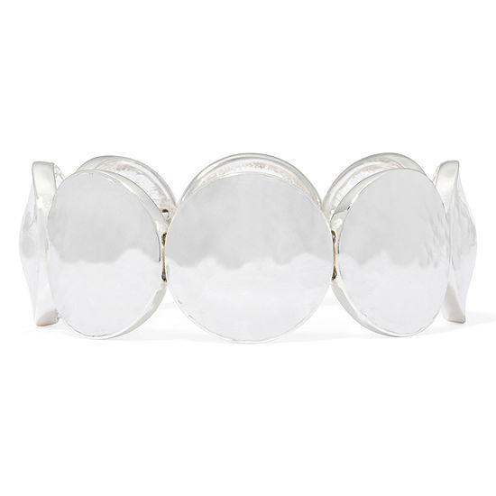 Liz Claiborne® Silver-Tone Circle Stretch Bracelet