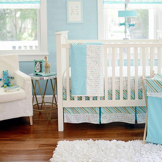 My Baby Sam Follow Your Arrow Aqua 3-pc. Baby Bedding