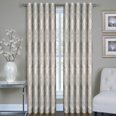 Buzby Metallic Rod-Pocket Curtain Panel