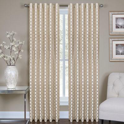 Ringo Metallic Rod-Pocket Curtain Panel