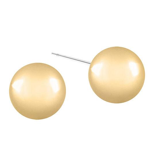 Gloria Vanderbilt Yellow 1 Inch Stud Earrings