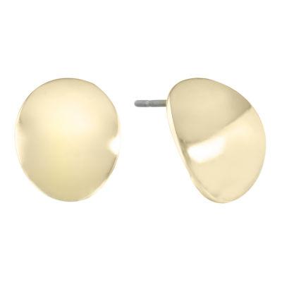 Gloria Vanderbilt Yellow 10mm Stud Earrings