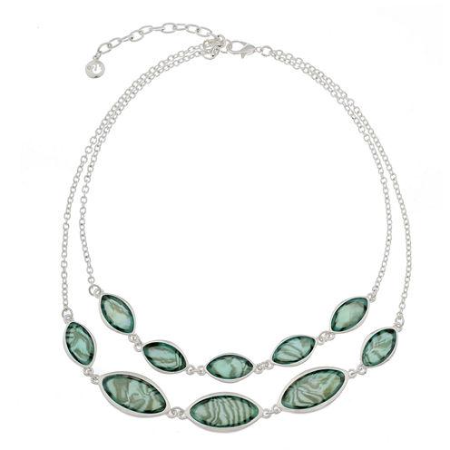 Gloria Vanderbilt Womens Blue Collar Necklace