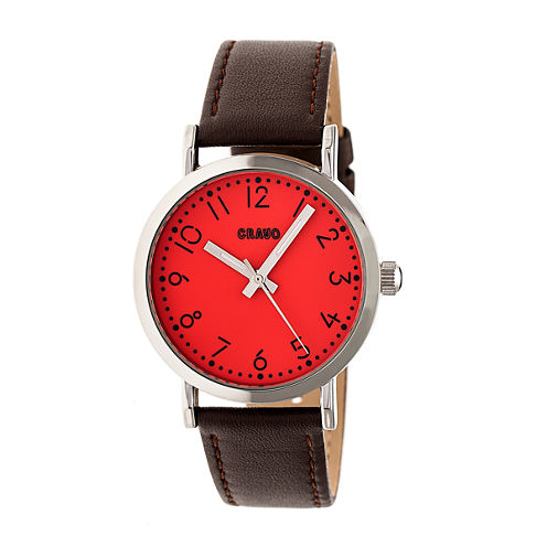 Crayo Pride Unisex Brown Strap Watch-Cracr3801
