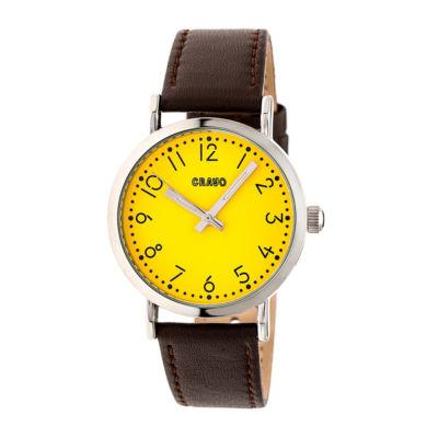 Crayo Pride Unisex Brown Strap Watch-Cracr3803