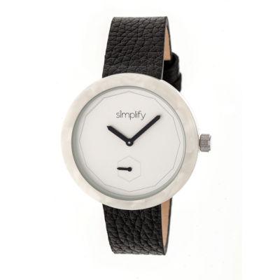 Simplify The 3700 Unisex Black Strap Watch-Sim3701