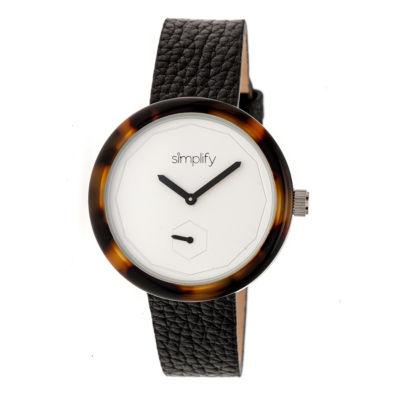 Simplify The 3700 Unisex Black Strap Watch-Sim3702