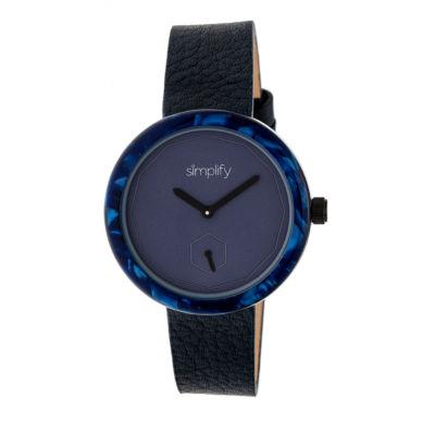 Simplify The 3700 Unisex Blue Strap Watch-Sim3704