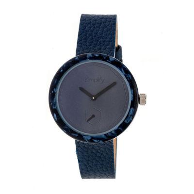 Simplify The 3700 Unisex Blue Strap Watch-Sim3705