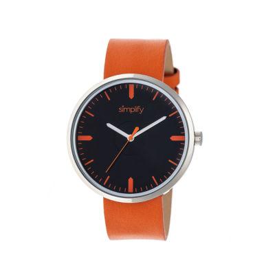 Simplify The 4500 Unisex Orange Strap Watch-Sim4503