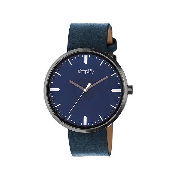 Simplify The 4500 Unisex Blue Strap Watch-Sim4505