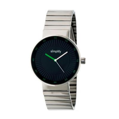 Simplify The 4600 Unisex Silver Tone Bracelet Watch-Sim4601