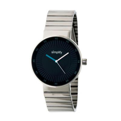Simplify The 4600 Unisex Silver Tone Bracelet Watch-Sim4602