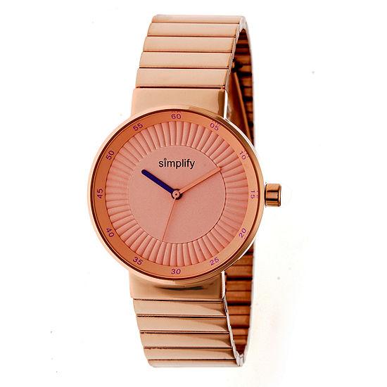 Simplify The 4600 Unisex Adult Rose Goldtone Stainless Steel Bracelet Watch-Sim4604