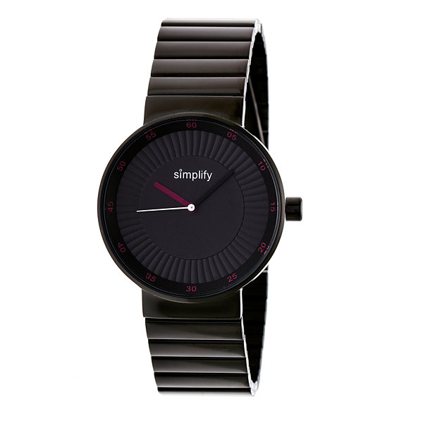Simplify The 4600 Unisex Black Bracelet Watch-Sim4605