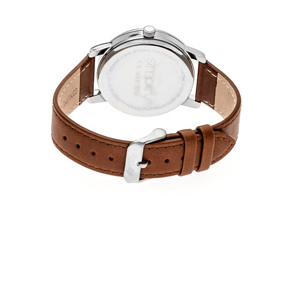 Simplify The 4700 Unisex Brown Strap Watch-Sim4703