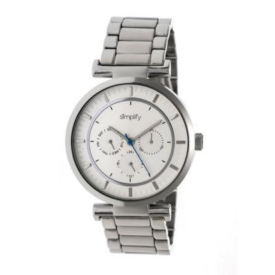 Simplify The 4800 Unisex Silver Tone Bracelet Watch-Sim4801