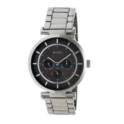 Simplify The 4800 Unisex Silver Tone Bracelet Watch-Sim4802