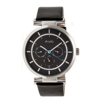 Simplify The 4800 Unisex Black Strap Watch-Sim4804