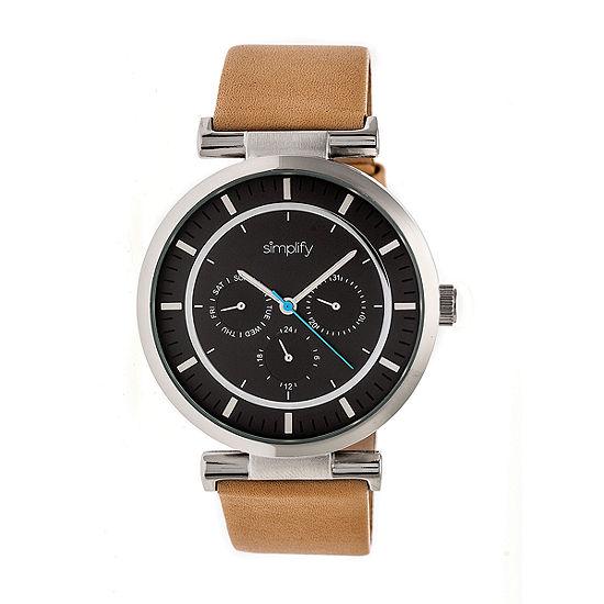 Simplify The 4800 Unisex Brown Strap Watch Sim4806