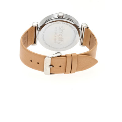 Simplify The 4800 Unisex Brown Strap Watch-Sim4806