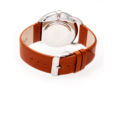 Simplify The 4900 Unisex Brown Strap Watch-Sim4901