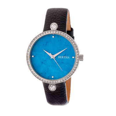 Bertha Frances Womens Black Strap Watch-Bthbr6402