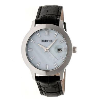 Bertha Eden Womens Black Strap Watch-Bthbr6501
