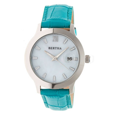 Bertha Eden Womens Blue Strap Watch-Bthbr6503