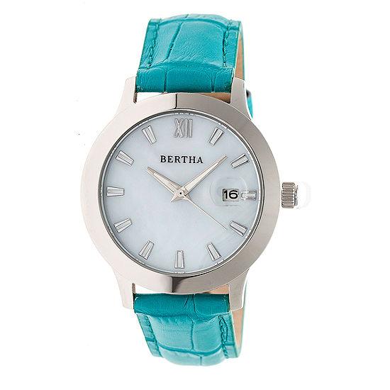 Bertha Eden Womens Blue Strap Watch Bthbr6503