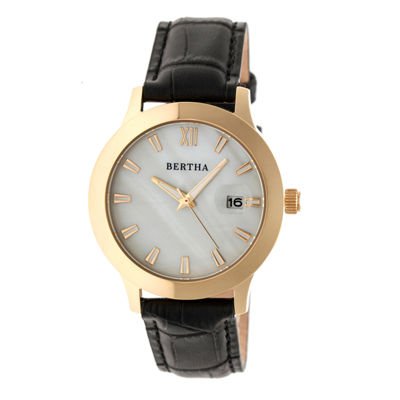 Bertha Eden Womens Black Strap Watch-Bthbr6504