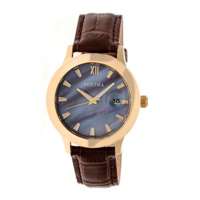 Bertha Eden Womens Brown Strap Watch-Bthbr6505