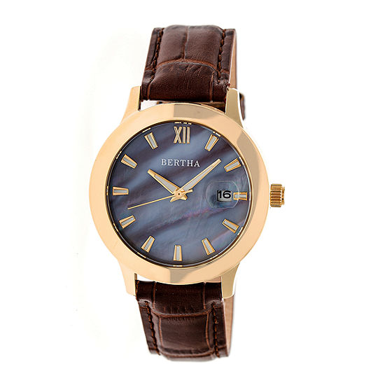 Bertha Eden Womens Brown Strap Watch Bthbr6505