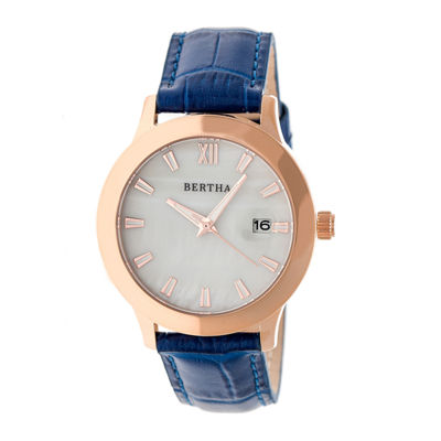 Bertha Eden Womens Blue Strap Watch-Bthbr6506