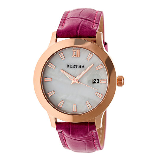 Bertha Eden Womens Purple Strap Watch-Bthbr6507