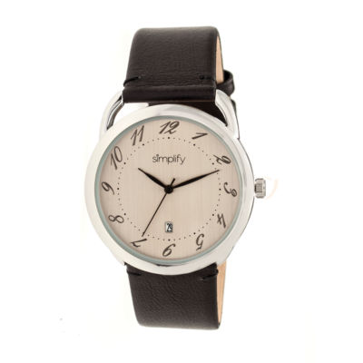 Simplify The 4900 Unisex Black Strap Watch-Sim4902