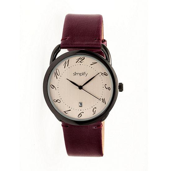 Simplify The 4900 Unisex Purple Strap Watch Sim4904