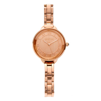 Bertha Madison Womens Rose Goldtone Bracelet Watch-Bthbr6703