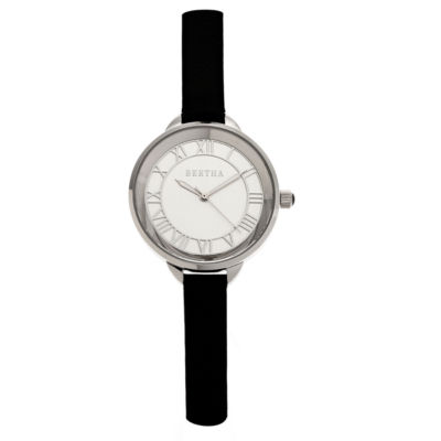 Bertha Madison Womens Black Strap Watch-Bthbr6704