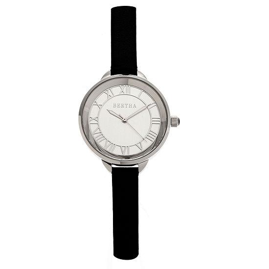 Bertha Madison Womens Black Strap Watch-Bthbr6704