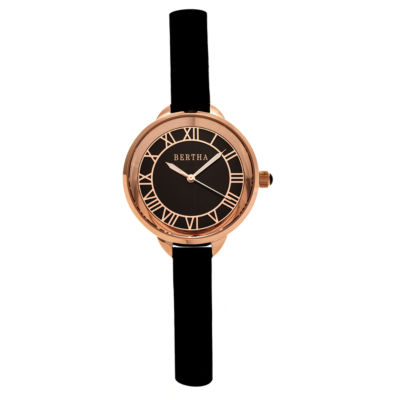 Bertha Madison Womens Black Strap Watch-Bthbr6707