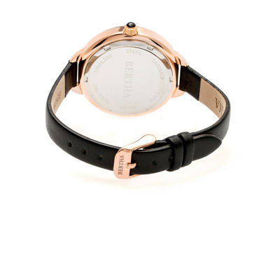 Bertha Madison Womens Black Strap Watch-Bthbr6707