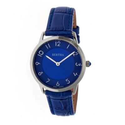 Bertha Abby Womens Silver Tone Bracelet Watch-Bthbr6805