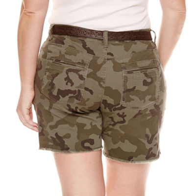 Unionbay Midi Shorts-Juniors Plus