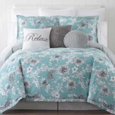 jcpenney.com | JCPenney Home Pencil Floral 4-pc. Comforter Set & Accessories