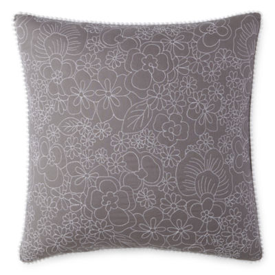 JCPenney Home Pencil Floral Square Throw Pillow