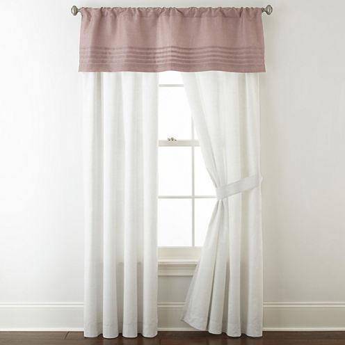 Liz Claiborne Blush Floral Rod-Pocket Curtain Panel