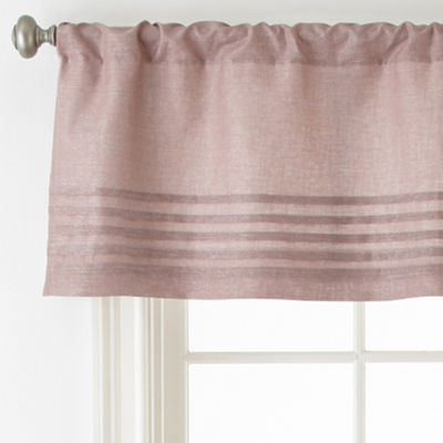 Liz Claiborne Blush Floral Rod-Pocket Tailored Valance
