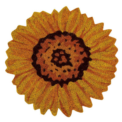 Better Trends Sunflower Coir Printed Round Doormat