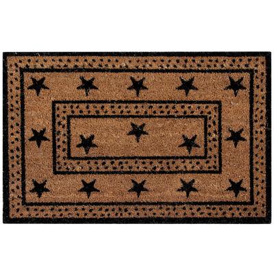 Better Trends Star Coir Rectangular Outdoor Doormat